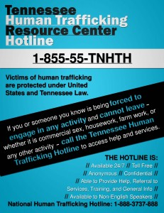 CWGF is now leading a statewide initiative to publicize the hotline for trafficking victims.